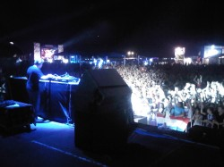 Global gathering 2011, Kiev Ukraine. Alan was PM for Tservis and audio system tech.
